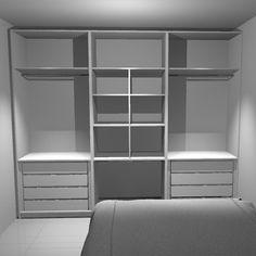 """98 curtidas, 6 comentários - O nosso Apê 04 (@o_nosso_ape_04) no Instagram: """"O interior do nosso guarda roupas lindão 😍 . . . #onossoapê04 #apepequeno #nossoprimeiroape #quarto…"""" Corner Wardrobe Closet, Wardrobe Cabinet Bedroom, Bedroom Closet Storage, Bedroom Cupboard Designs, Wardrobe Design Bedroom, Bedroom Cupboards, Wardrobe Cabinets, Master Bedroom Closet, Bedroom Wardrobe"""