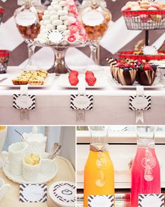 Hostess with the Mostess® - Stunning Vintage-Modern Bridal Shower Food Bar Cheese Burger, Vintage Modern, Brunch Buffet, Brunch Bar, Brunch Wedding, Party Entertainment, Thing 1, Shower Party, Baby Shower