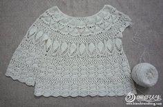 CARAMELO DE CROCHET: crochet japonés blusa calada