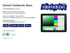 Sketchlot. Un tableau blanc collaboratif pour l'école http://outilscollaboratifs.com/2013/03/sketchlot-un-tableau-blanc-collaboratif-pour-lecole/