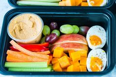 A Summertime essential! Pack a bunch to stay healthy on-the-go all SUMMER long! 🌞Makes 4 servings/boxes Ingredients: 4 large eggs, boiled to your preferred doneness 2 large organic carrots, cut into 1/2-inch sticks 4 celery stalks, cut into...