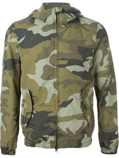 WOOLRICH | hooded camouflage print jacket #woolrich #camo #jacket