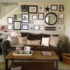 "See how this Texas family room was transformed for under $500 into ""farmhouse glam"" fabulous!"