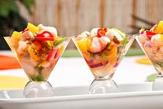 This ceviche recipe is a easy, light appetizer made with tequila and lime marinated shrimp and bay scallops, fresh oranges, jalapeno peppers and cilantro.