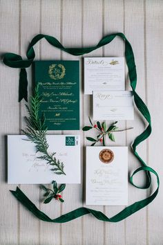 We can't get over these deep green wedding invitations. These would be so beautiful for winter wedding invitations - perfect for a rustic wedding, farmhouse wedding, greenery wedding and even a traditional Christmas wedding! Christmas Wedding Invitations, Winter Wedding Invitations, Wedding Invitation Suite, Wedding Stationary, Invitation Cards, Winter Wedding Receptions, Luxury Wedding Venues, Winter Weddings, Star Wedding