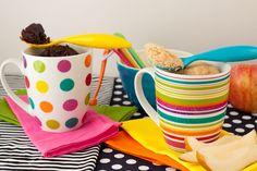 Paleo Chocolate Fudge + Vanilla Bean Mug Cakes (Gluten Free)