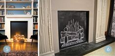 Roundup: 10 Fun Ways To Decorate A Non-Working Fireplace » Curbly | DIY Design Community