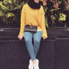 yellow and hijab fashion image
