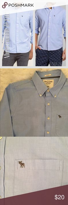 Abercrombie & Fitch Muscle Blue Button Down Shirt Abercrombie & Fitch Muscle Blue Button Down.l Shirt. Great condition. No tears, rips, stains, or fading. Abercrombie & Fitch Shirts Casual Button Down Shirts