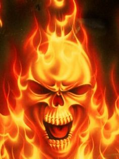 Flaming Skull Fire Manipulation Powers Pictures To Draw