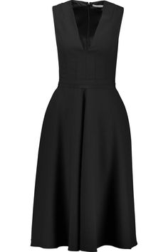 Shop on-sale Carven Grosgrain-trimmed pleated crepe dress. Browse other discount designer Dresses & more on The Most Fashionable Fashion Outlet, THE OUTNET.COM