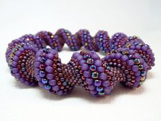 Aubergine Dream Beadwoven Cellini Spiral by littlestonedesign, $59.00