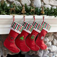 M Bagwell Christmas Stocking With Holiday Appliques Mb81096X