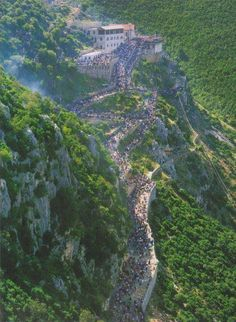 The road to Church of laç , Albania