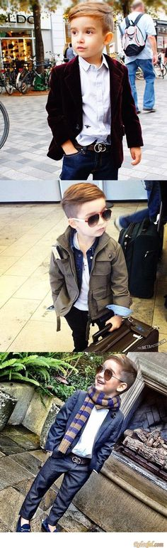 Haircut for a little stylish dude & adore the outfits!!