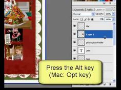 Designer Digitals - how to use clipping masks in PSE