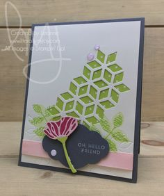 Oh, Hello Friend | Stampin\' Up! | Oh, So Eclectic #literallymyjoy #friend #flower #EasternPalaceDSP #lemonlime #powderpink #sendingnotes #20172018AnnualCatalog