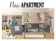 """""""The Perfect Paris Apartment"""" by stellastellahankinson ❤ liked on Polyvore featuring interior, interiors, interior design, home, home decor, interior decorating, Pier 1 Imports, Worlds Away, Gus* Modern and Charlene Mullen"""