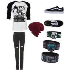 hot topic beanies | ... jeans, Vans sneakers and Coal hats. Browse and shop related looks