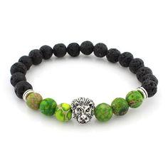 Lava Stone Lion Bracelets
