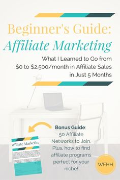 Ready to monetize your online presence with affiliate marketing? Click through to find out what I learned to go from $0 to $2,500/month in…