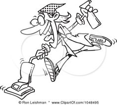 www.PhiladelphiaExpertCleaning http://images.clipartof.com/small/1048495-Cartoon-Black-And-White-Outline-Design-Of-A-Spring-Cleaning-Woman-Vacuuming-Poster-Art-Print.jpg