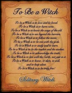 Solitary witch | Its a Pagan Thing..