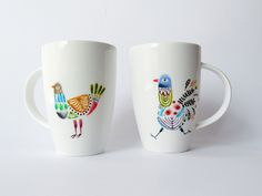 Illustration on porcelain · Ilustración sobre porcelana · Dibujado a mano · Hand-drawn www.cayagutierrez.com Illustration, Objects, Lettering, Drawings, Tableware, Handmade, Pictures, Art, Porcelain Ceramics