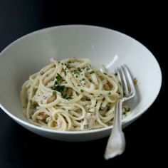 Pasta with Tuna Sauce - right up Miss Angie's alley.