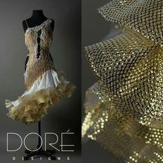 Dore designs gold latin dress