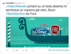 Simpatica attivazione di Ford Italia su Twitter, che in occasione della festa degli innamorati dedica un pensiero ai vari competitor. E Alfa Romeo Giulietta risponde pure