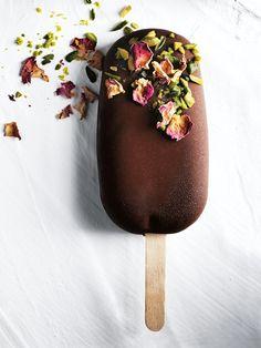 Dark Chocolate Turkish Delight Ice Creams | Donna Hay