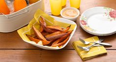 Oven-Roasted Sweet Potato Fries recipe - Golden on the outside and tender on the inside, with just the right blend of sweet and heat.