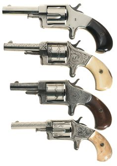 Collector's Lot of Four Iver Johnson Spur Trigger Revolvers -A) Iver Johnson Favorite No. Revolver