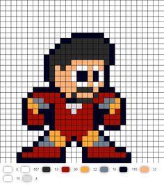 Iron Man (Avengers) Perler Bead Pattern