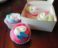Onesie & Diaper cupcakes