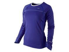 Nike Miler Women's Running Shirt - favorite shirt for chilly morning runs ;-)