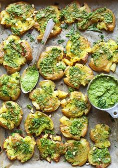 Crispy Smashed Potatoes With Garlic Pesto | 31 Delicious Things To Cook In March