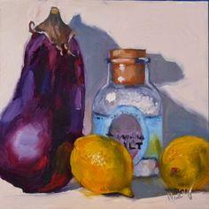 Order Up oil on hardboard 6x6 $99, painting by artist Sharman Owings