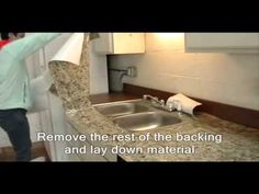 Appliance Art's video instruction to install Instant Granite Around Sink.