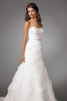 Jordan Fashions wedding dress.  Strapless.