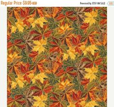 FANTASTIC SALE Into the Woods-Fall Leaves~Cotton Fabric, Fabri-Quilt Fast Shipping F655