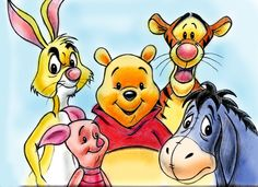 Winnie the Pooh  and  Friends by zdrer456.deviantart.com