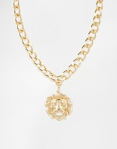 ASOS Heavy Chain Necklace With Lion