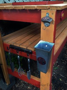 diy potting bench bar - Google Search