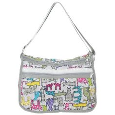 Perfect for travel and staying organized, this hobo bag is great to go out and keep all your belongings safe while there colorful kitties keep you company. Please follow and like us: