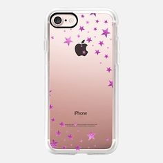 STARSHOWER PINK FUNKY Transparent iphone case iPhone 7 Hülle by Monika Strigel | Casetify (DE)  $40   #casetifyiphone7 #iphone7 #iphone7case #monikastrigel  #popular