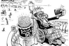 Zapiro: Happy birthday Mugabe - The Mail & Guardian Cartoons, Happy Birthday, History, Rocks, Politics, Animals, Image, Happy Brithday, Cartoon
