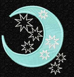 Space Stars Moon and Sun Machine Embroidery Designs Set | eBay