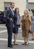 King Felipe VI of Spain Queen Letizia of Spain and Princess Beatrix of The Netherlands attend the 'El Bosco' 5th Centenary Anniversary Exhibition at...